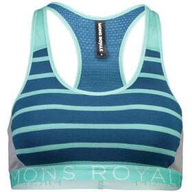 Mons Royale Sierra Sports Bra Women oily blue/horizon stripe